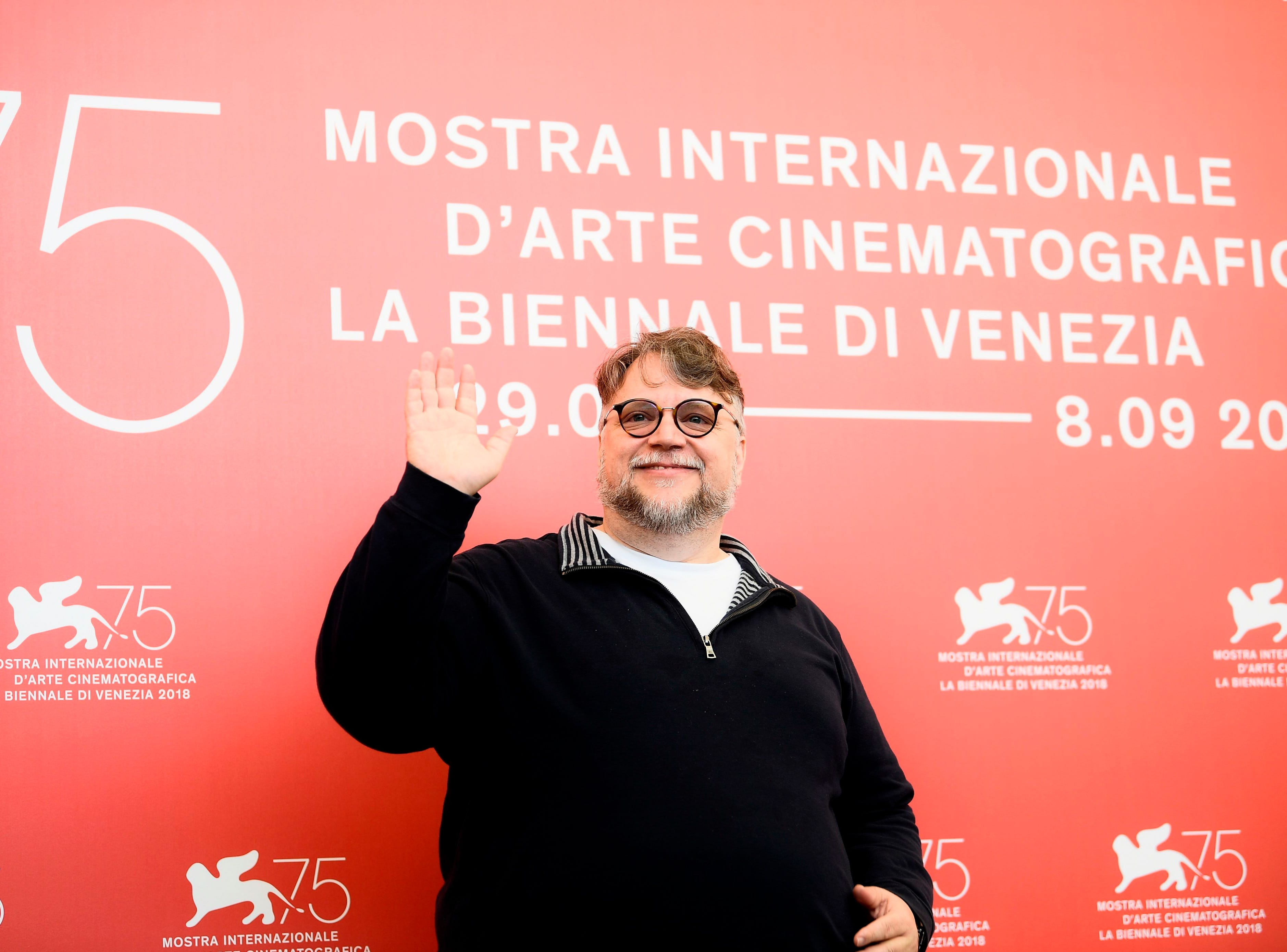 President of the Venezia 75 competition Jury, Mexican director Guillermo del Toro attends a photocall of the jury of the 75th Venice Film Festival on August 29, 2018 at Venice Lido. (Photo by Filippo MONTEFORTE / AFP)FILIPPO MONTEFORTE/AFP/Getty Images ORIG FILE ID: AFP_18O8H5