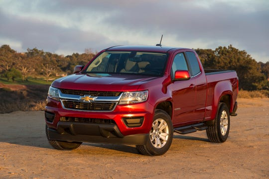 This undated photo provided by General Motors shows the 2018 Chevrolet Colorado, which can be had for as much as $9,000 off in the Miami area as Labor Day sales begin. (Jim Fets Photography/General Motors via AP)