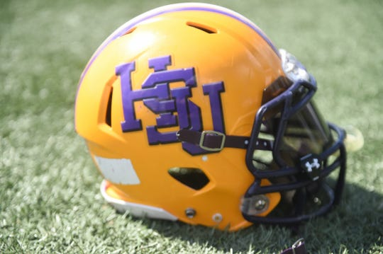 The Hardin-Simmons football team has worn the yellow helmet with the purple interlocking HSU since 1990. The has been the Cowboys' only helmet until this season. The football team announced a new helmet, white with the purple Cowboy rider head for select games.