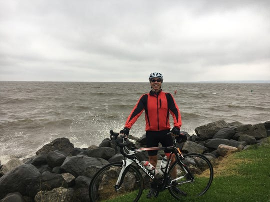 Brad Campbell traversed Lake Michigan by ferry this summer during his 50-day bike ride across the United States.