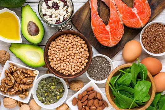 Food Rich In Omega 3 Fatty Acid And Healthy Fats Healthy Diet Eating Concept