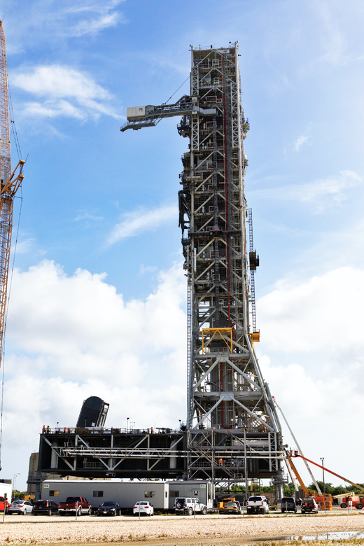 The 380-foot, 11-million pound mobile launcher at Kennedy Space Center