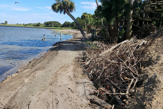 A developer carved a road along the Indian River Lagoon on Riverview Drive in Melbourne.