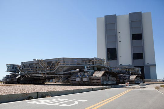 One of NASA's crawler-transporters at Kennedy Space Center.