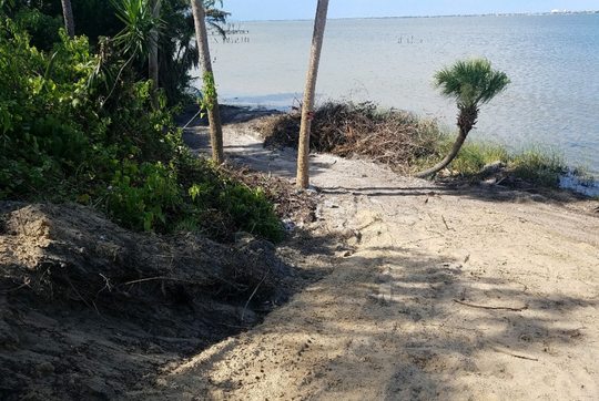 A developer carved a road into the Indian River Lagoon bluff on Riverview Drive in Melbourne.