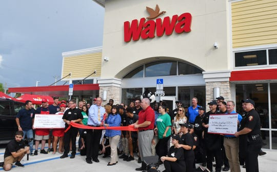 Wawa hosted a grand opening ceremony in August in downtown Melbourne. That afternoon, Wawa opened its first Palm Bay store at Malabar Road and Emerson Drive.