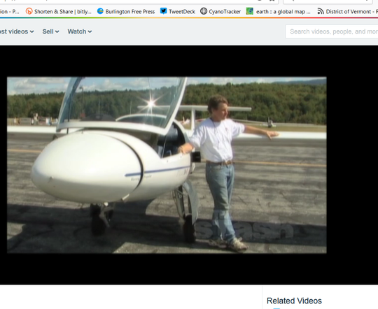 Donald Post, owner of Stowe Soaring LLC, is seen in this screen shot from an undated promotional video for the company.