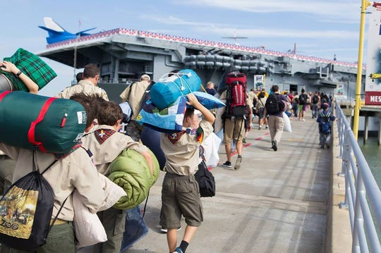 The Lexington Museum on the Bay offers groups a chance to spend the night in the World War II aircraft carrier.