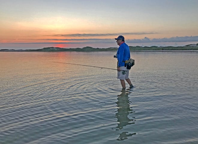 Windless bay conditions offer a more tranquil setting for kayak fishing.