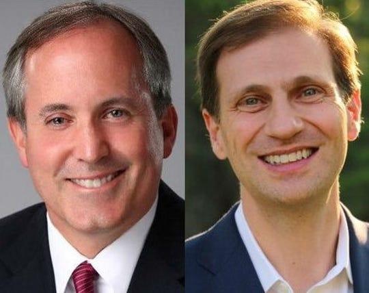 Ken Paxton, left, Justin Nelson