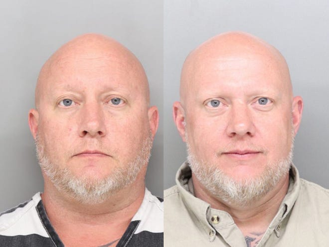 Troy Evenson, left, and his twin brother Tracy Evenson are both charged in connection with an investigation into $500,000 in stolen items recovered in Colerain Township.