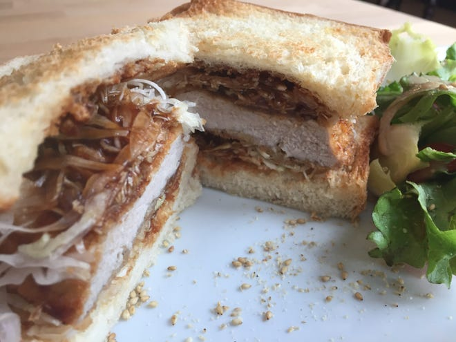 The katsu sando from Chako Bakery in Covington.