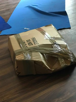 A box marked fragile was damaged during military move from Ft. Campbell to Ft. Belvoir this summer.