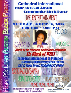 Gospel radio personality Liz Black will be featured at Cathedral International of Plainfield's Annual Hope McLean Community Block Party on Sunday, Sept. 2.