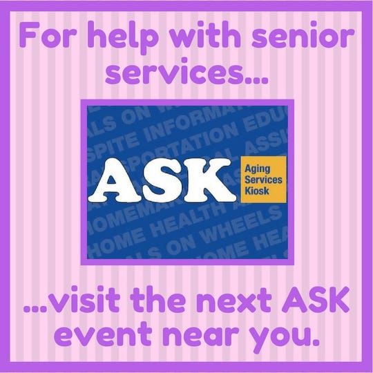ASK -- the Aging Services Kiosk program — continues into the fall season.