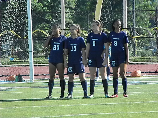 The Immaculata girls soccer team scrimmaged against Franklin on Thursday, Aug. 30, 2018.