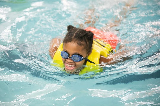The first group swimming lessons were taught at a YMCA over 100 years ago. Since then thousands of children like Lyric Lloyd of Somerville, have enjoyed the lifelong benefits of learning to swim at the Y.