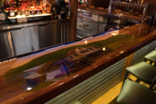 One of the new bar tops at the Flemington Chimney Rock Inn.