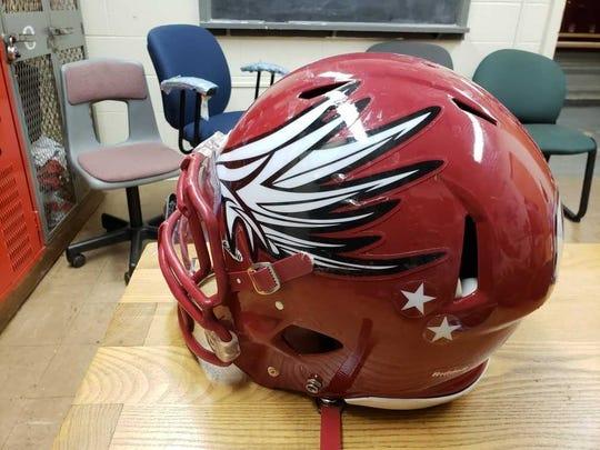 The Highland Park football helmet