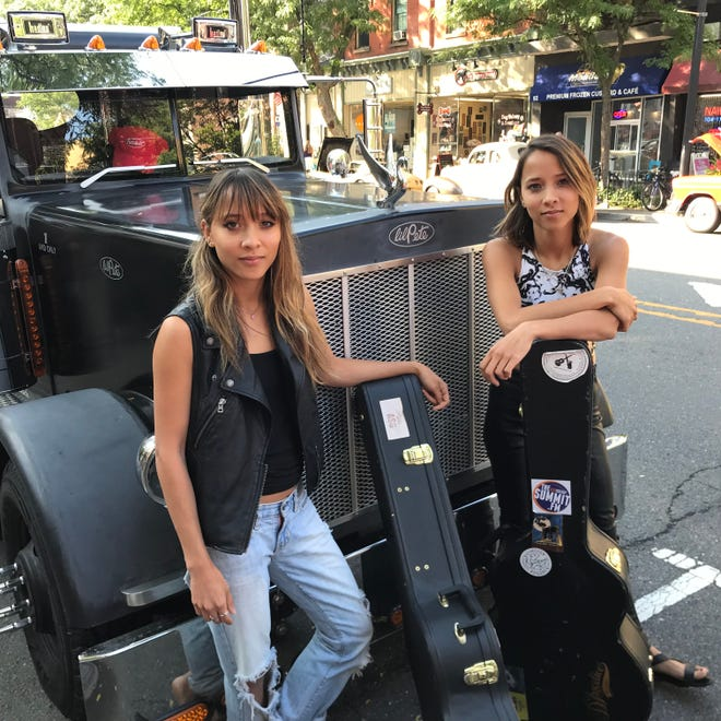 Hunterdon-raised twin sibling duo Nalani & Sarina are pictured in downtown Somerville. They kick off their first national tour on Sept. 4 in Knoxville, Tenn., and can be seen locally Sept. 8 at Hub City Sounds: ROCK New Brunswick; Sept. 20, The Bitter End, New York City; Oct. 6, Asbury Lanes, Asbury Park, and Oct. 8, Raritan Valley Community College, Branchburg.
