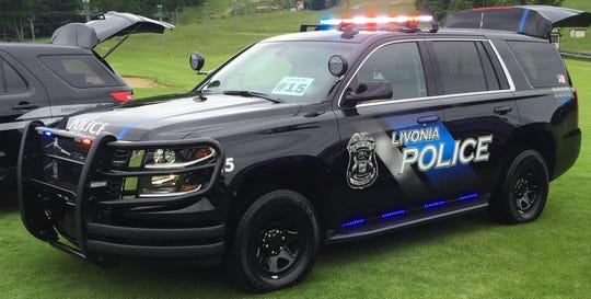 Livonia Police vehicle