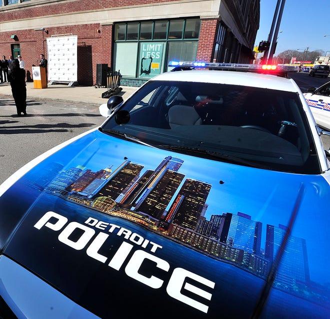 Detroit police vehicle