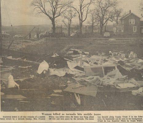 1974 Tornado Mobile Home Detroyed