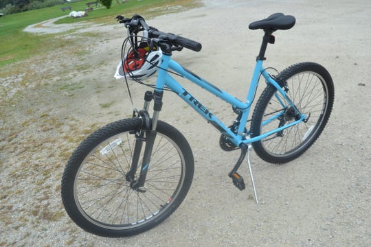 Lydia Kropp was presented with this Trek bike as a recipient of Boyk Law's Bikes for Kids program, which gives free bikes to kids who are impacting their communities.