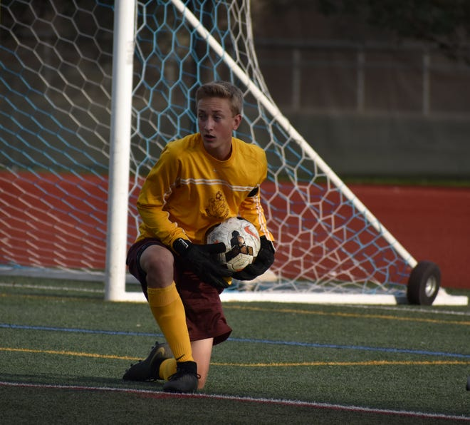 Windsor High School boys soccer goalie Daniel Bouma, shown during an Aug. 29 game against Poudre, and his teammates will play a road match at 4 p.m. Wednesday against Skyline in Longmont.