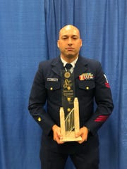 Petty Officer Brian Gogo received the American Legion Spirit of Service Award in Minneapolis, MN. Gogo is a member of the US Coast Guard Station Apra Harbor and a native to Guam.