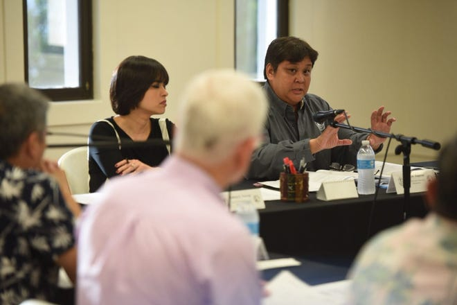 The Guam Election Commission discusses the recount issue on Aug. 30 2018
