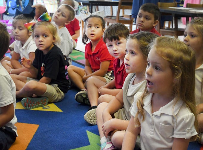 Kindergartners at South Forrest Attendance Center are going for No. 1 in the state, after coming in second on the kindergarten readiness test this spring.