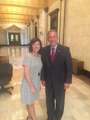Rep. Missy McGee and Forrest County Supervisor David Hogan