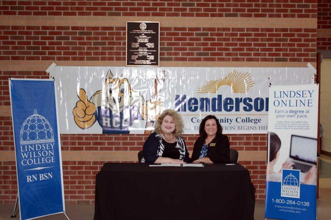 Dr. Tiffany Evans, Interim President and CEO at Henderson Community College (HCC) and Dr. Tommie Saragas, Vice President of Educational Outreach for Online and Graduate Programs at Lindsey Wilson College