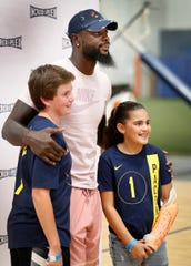 Lance Stephenson got to hang out and sign autographs with fans during a farewell to Indy family event at Incrediplex event center Wednesday, August 29, 2018.
