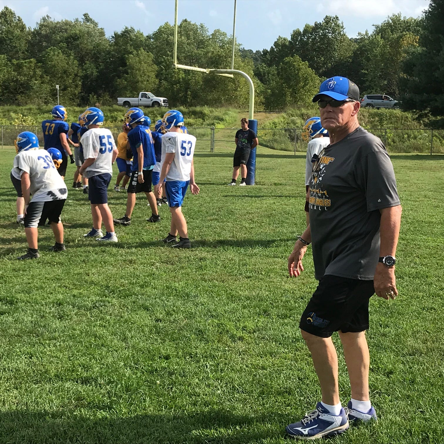 From Wall Street to Brown County: Former Purdue and NFL running back coaching football