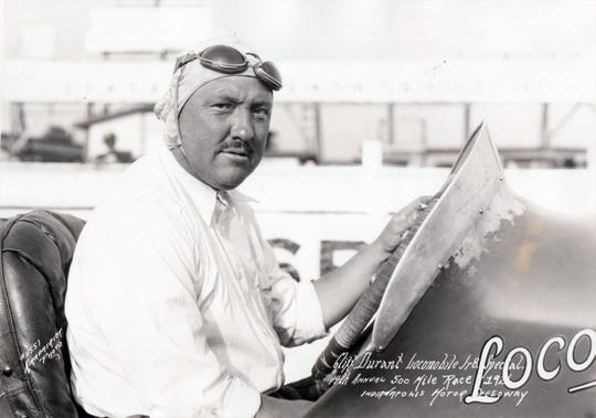 Racecar driver Cliff Durant, who owned the Martinelli-Gingold Stradivarius at one time, is pictured here in 1926 at the Indianapolis 500.