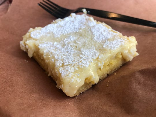 Gooey butter pie at The Den by FoxGardin at Sun King Taproom & Distillery in Carmel