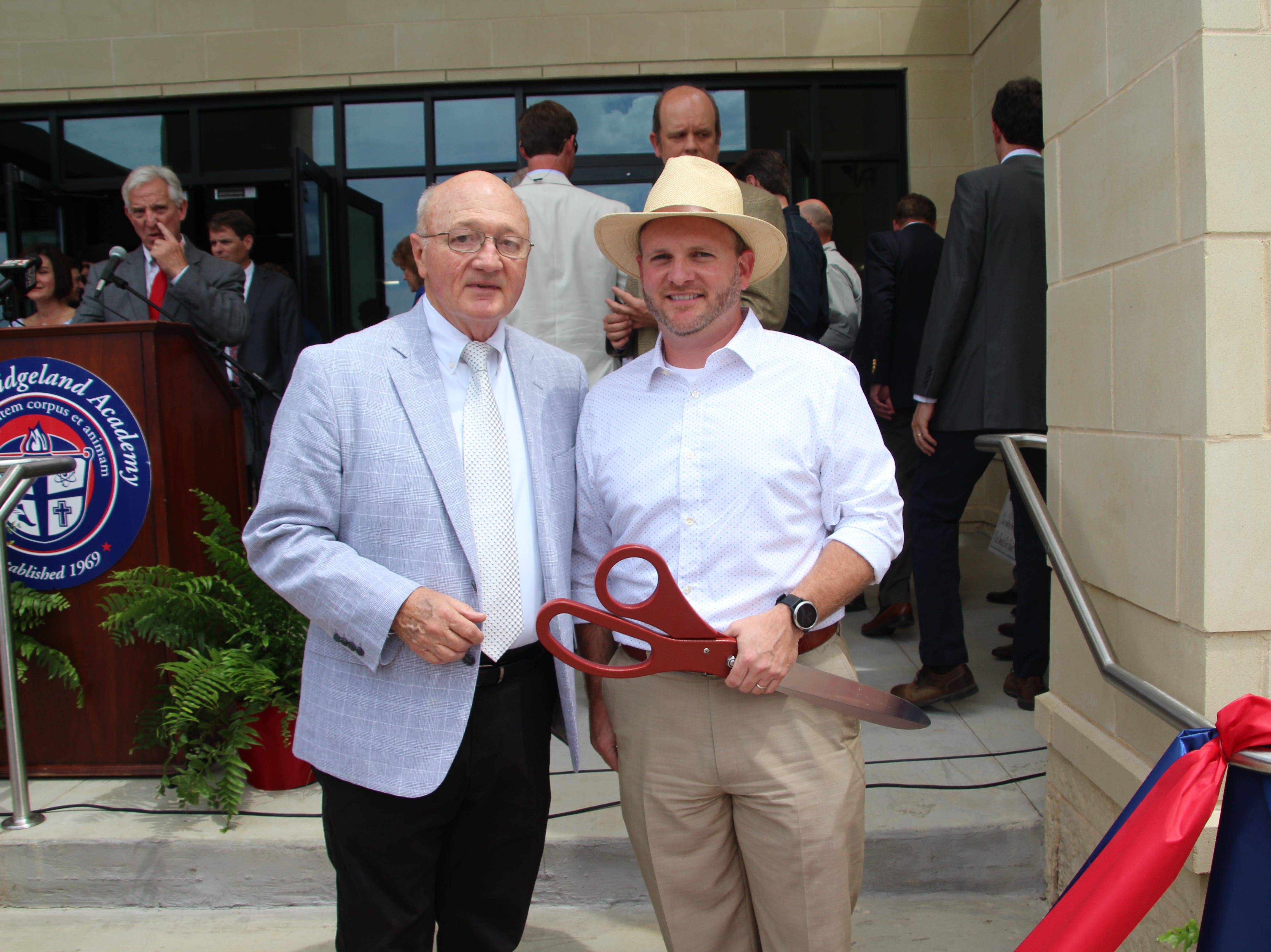 Former Head of School Tommy Thompson and his son MRA Board of Trustees member and alumnus Mathew Thompson