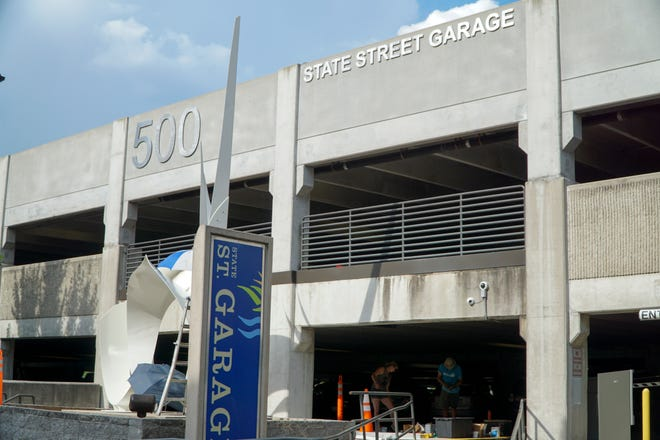 The State Street garage behind the Regal Cinema downtown will be partially closed through several stages of a nine-month renovation starting in October that will add 570 new parking spots to the structure.