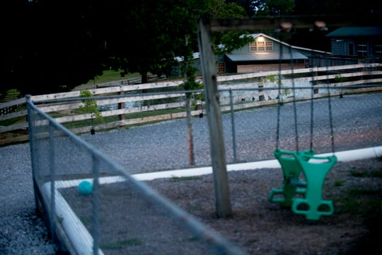 This image shows the proximity between the goat barn and the children's play area at The Kids Place Inc. child-care center on Millertown Pike in Mascot, Tennessee on Wednesday, August 29, 2018.