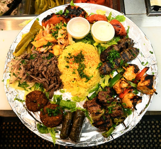 Sahara Mixed Grill at Sahara Mediterranean and Indian restaurant is enough food to feed two.