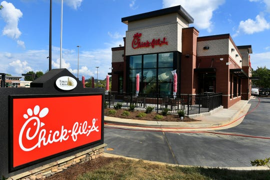 Exterior shot of New Chick-fil-A at Turkey Creek Wednesday, August 29, 2018 which is still under construction.