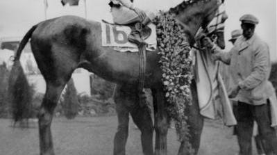 Don Meade on Brokers Tip, 1933 Kentucky Derby