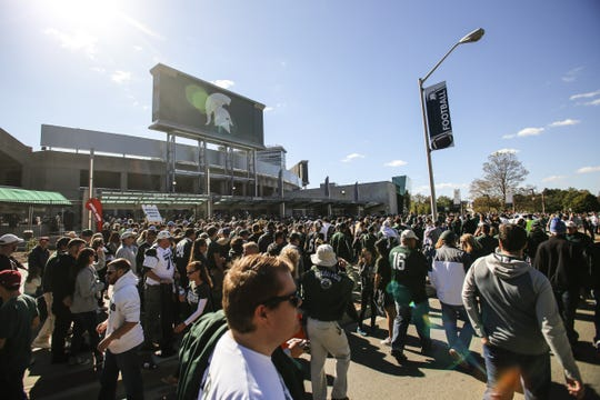 Spartan Stadium in East Lansing will host seven home football games in 2018. That includes games against No. 5 Ohio State and No. 14 Michigan.