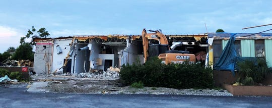 The building at 579 E. Elkcam Circle that housed the Marco Eagle for nearly five decades, is being demolished.