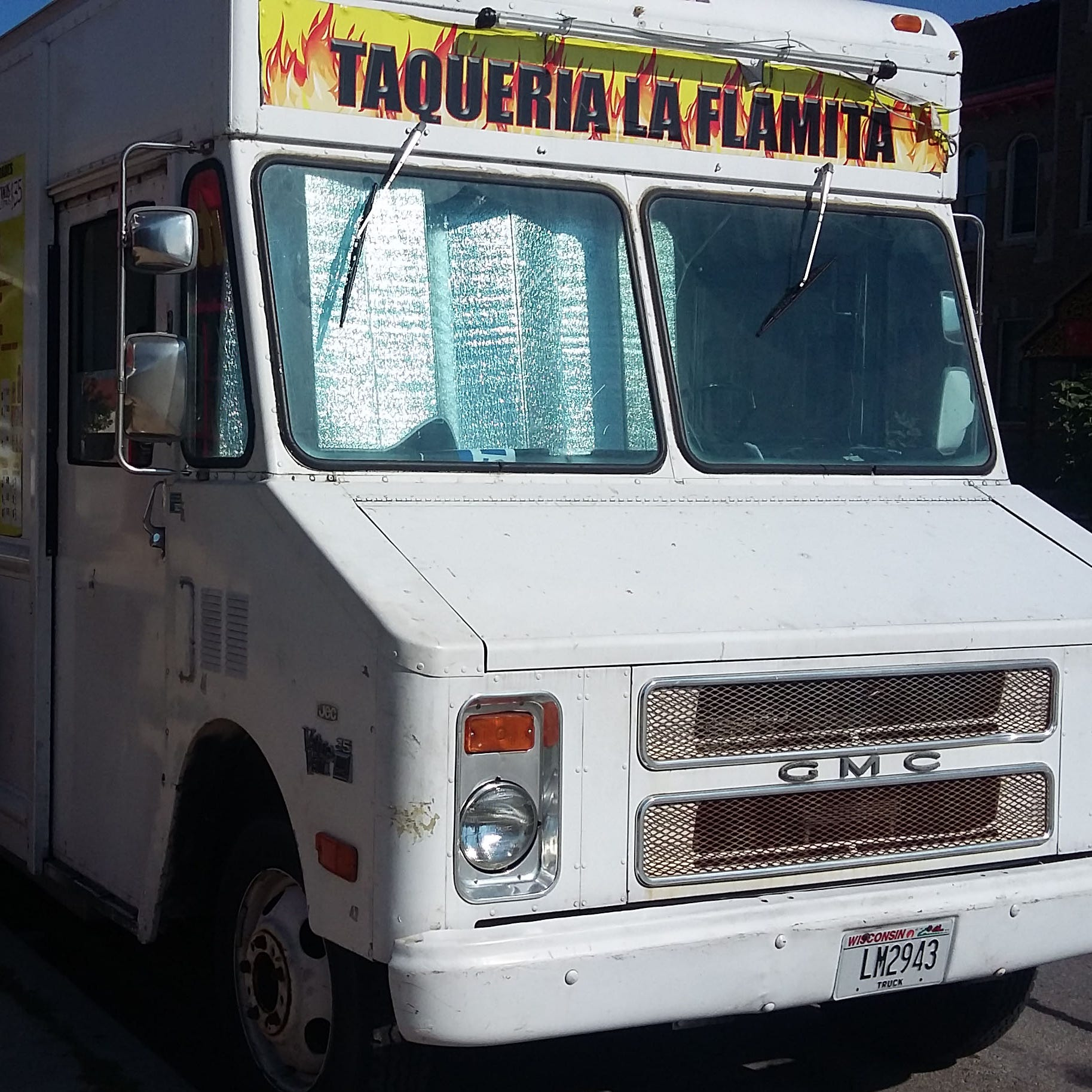 Taqueria La Flamita is shown Thursday (August 30, 2018) the day after this taco truck and four others on Milwaukee's south side were robbed.