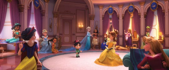 "Vanellope (voiced by Sarah Silverman) meets the Disney princesses - all of them - when she joins Ralph in his trip to the Web in ""Ralph Breaks the Internet."" The actresses who voiced the original Disney princesses reprise their voice roles."