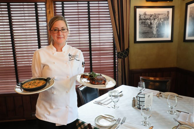 Amber Dorszynski is the executive chef for Mr. B's Steakhouse in Mequon. She called creamed spinach her favorite item on the menu but added a prime bone-in ribeye steak to make it a meal.