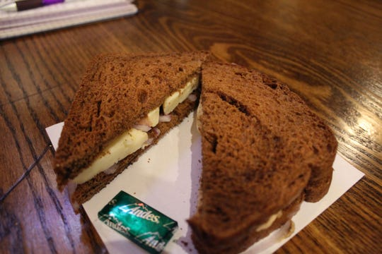 The mint served with the Limburger sandwich serves an obvious purpose.